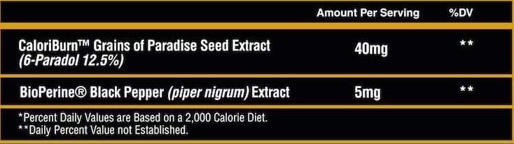 caloriburn ingredients