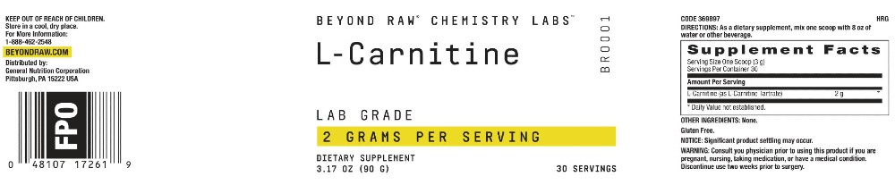 Beyond Raw L-Carnitine Ingredients