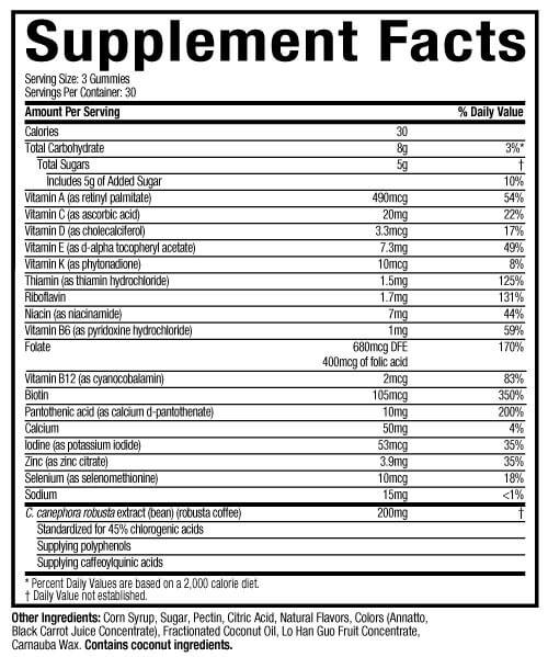 Hydroxycut Gummies Ingredients